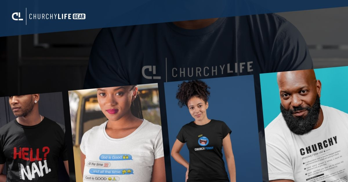 Original Church Funny Designs! Featuring 3, never-before-seen creative and funny Christian designs, plus our official Church Funny and Churchy Life brand apparel.
