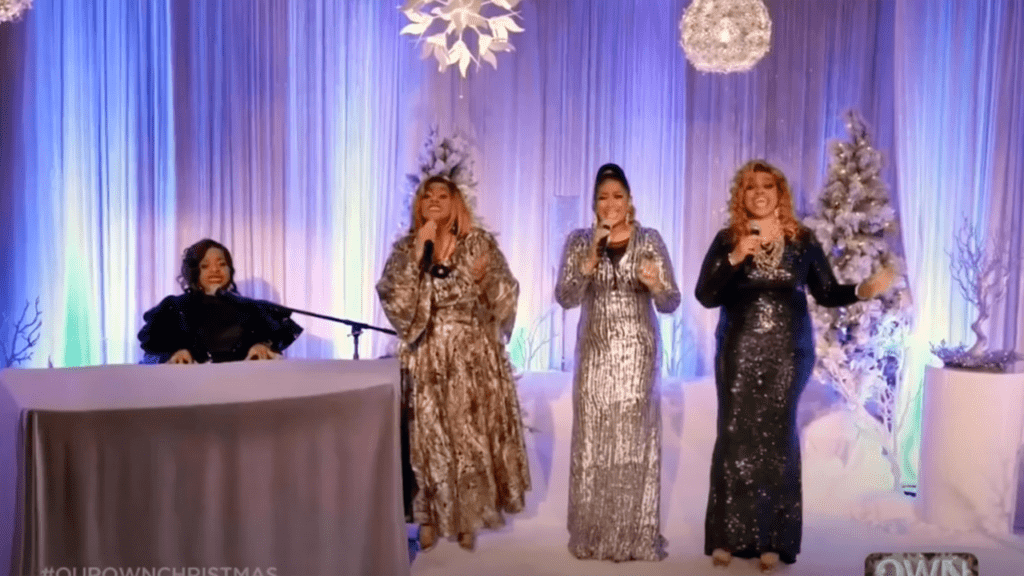 """The Clark Sisters performing """"Joy to the World"""""""